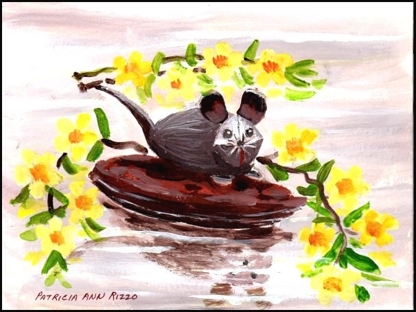 """Tiny Little Mouse"" original fine art by Patricia Ann Rizzo"