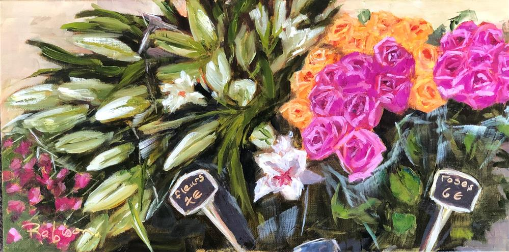 """French Market Roses"" original fine art by Renee Robison"