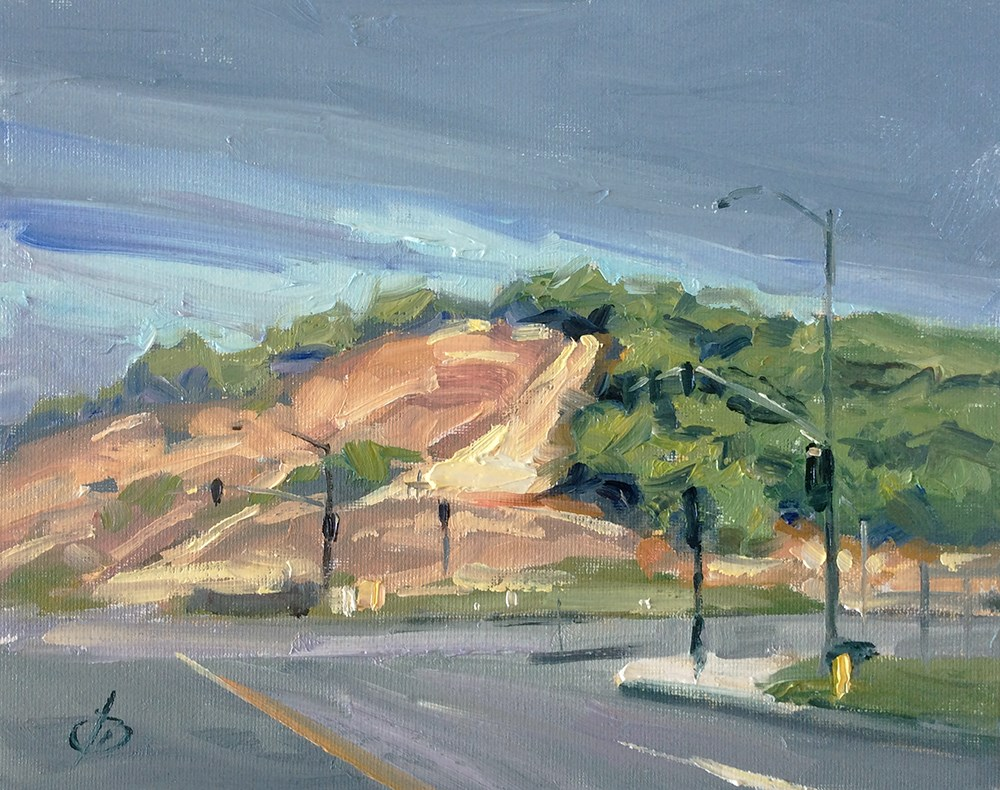 """TOP OF THE HILL"" original fine art by Tom Brown"