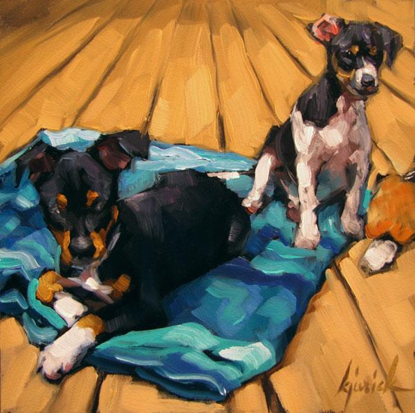 """""""Zac & Joey"""" original fine art by Karin Jurick"""