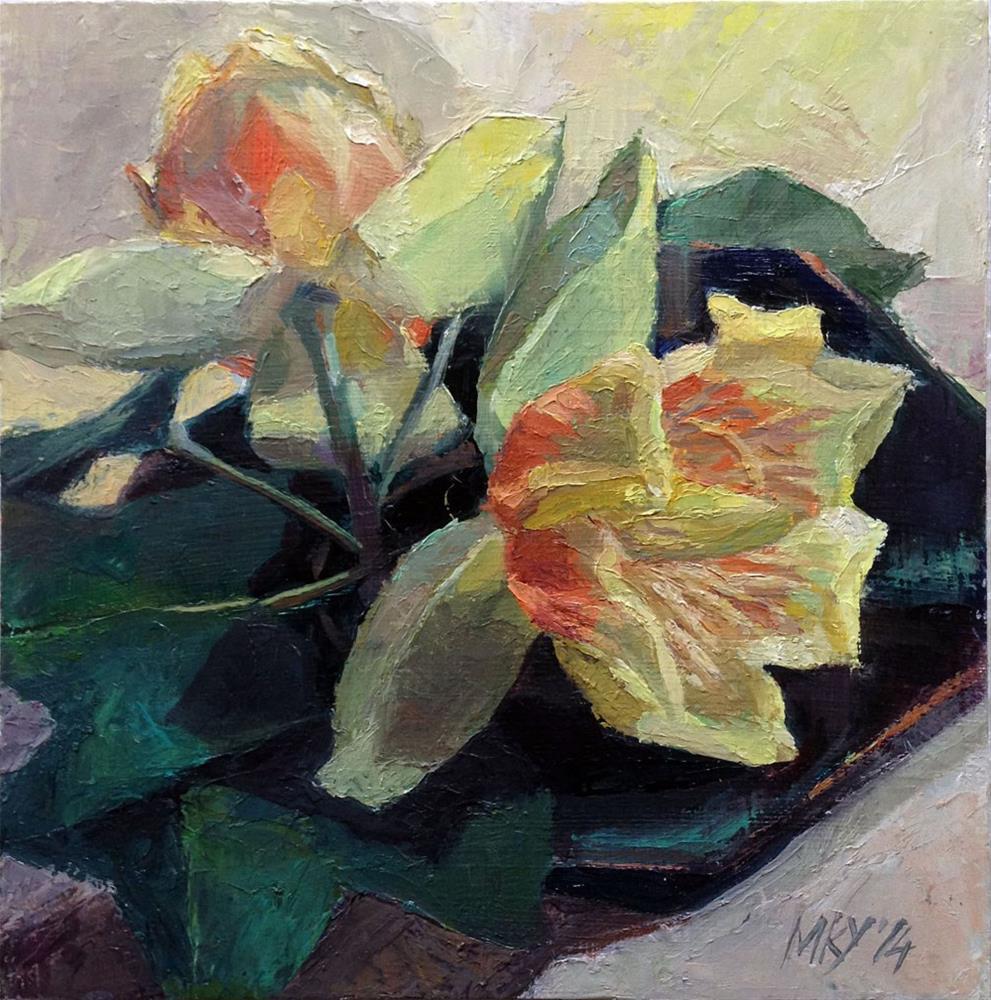 """Tulip Tree Blossom"" original fine art by Myriam Kin-Yee"