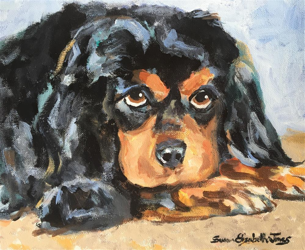 """Marley"" original fine art by Susan Elizabeth Jones"