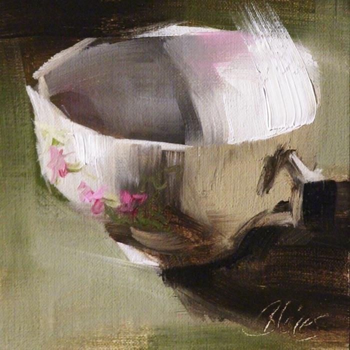 """Teacup Collection II"" original fine art by Pamela Blaies"