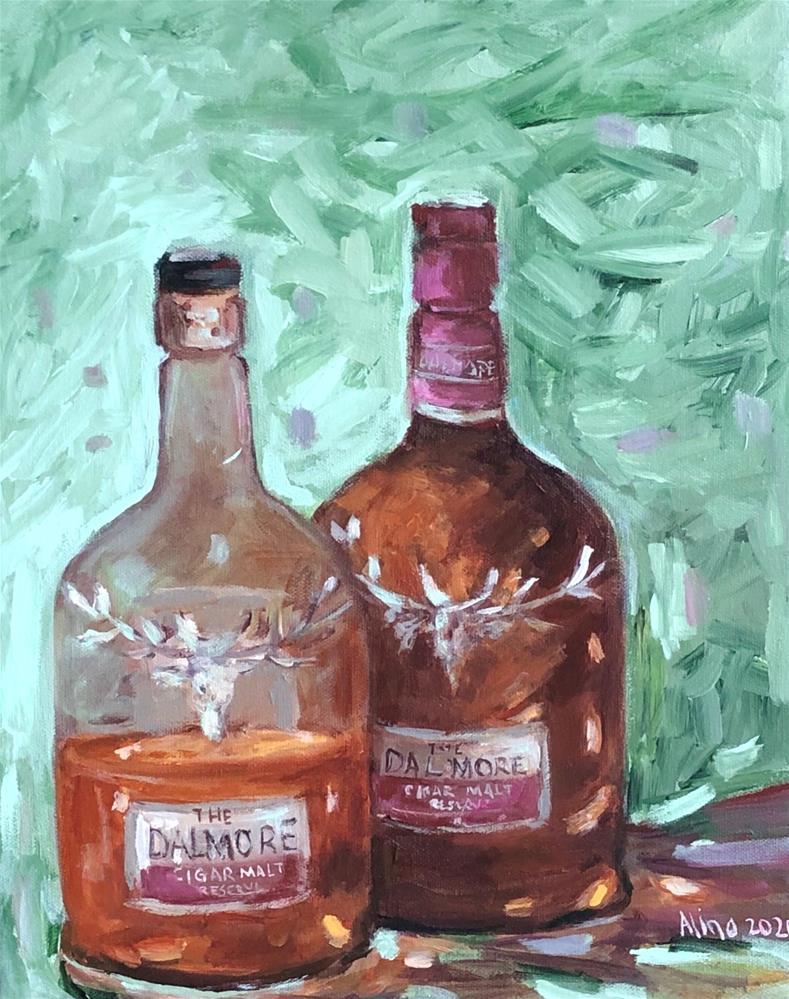 """Double Trouble"" original fine art by Alina Vidulescu"