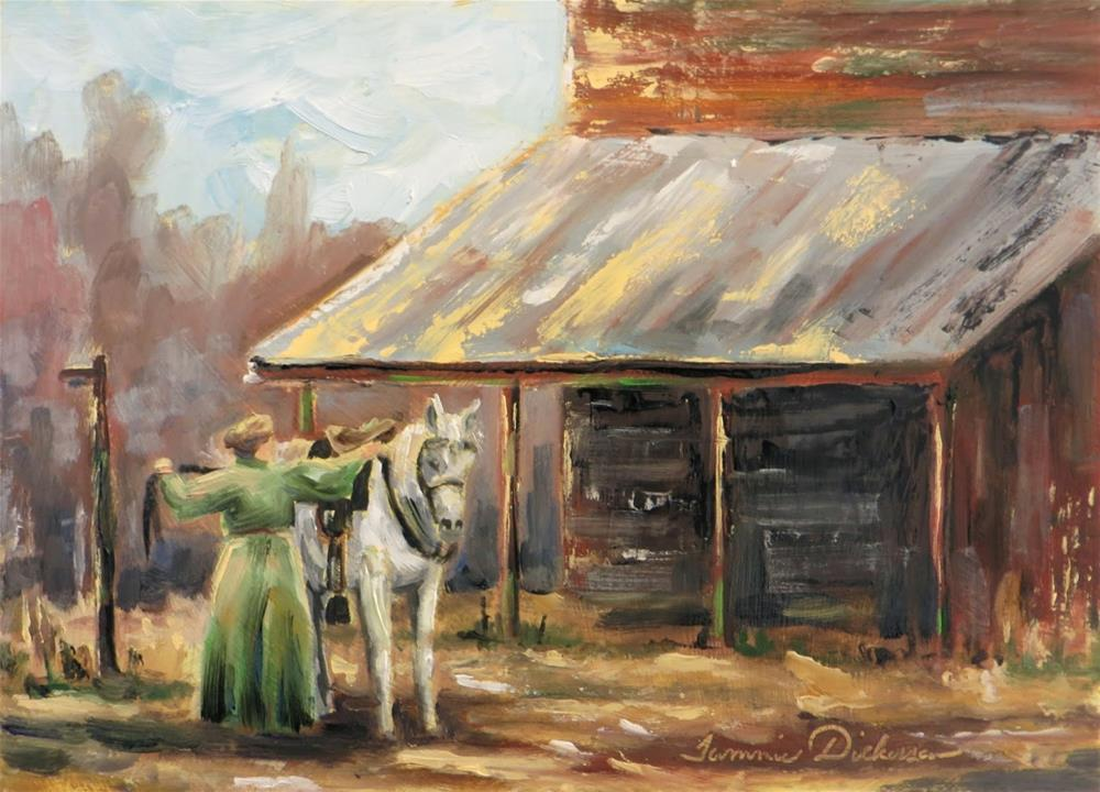 """Preparing the Horse"" original fine art by Tammie Dickerson"