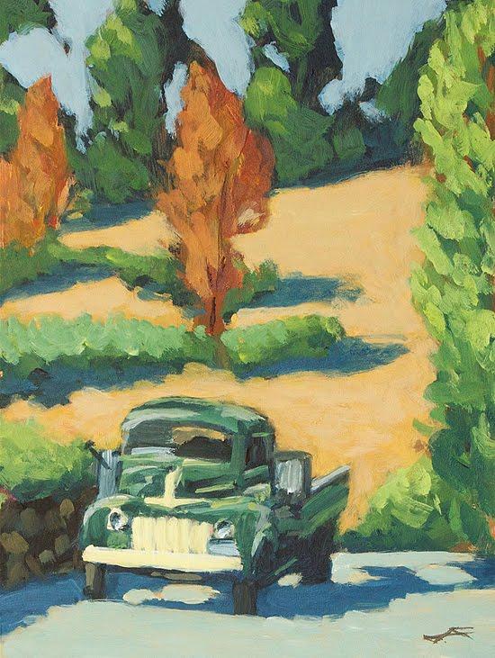 """Winery Truck"" original fine art by J. Farnsworth"