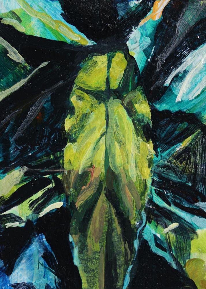 """""""Peace Lily"""" original fine art by Chris Breier"""