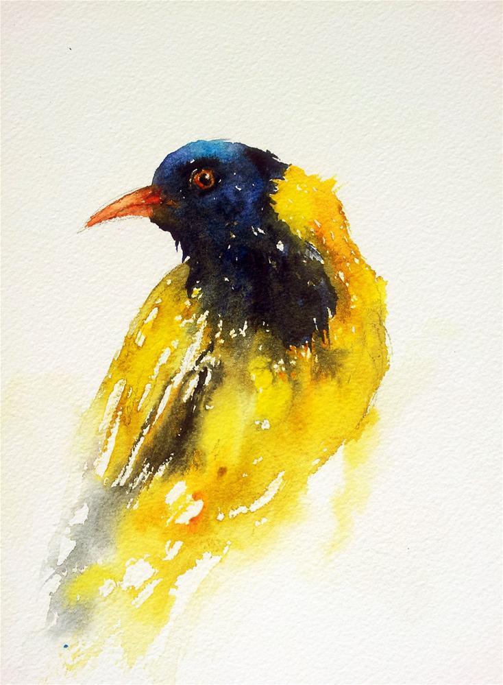 """""""Yellow Bird"""" original fine art by Arti Chauhan"""