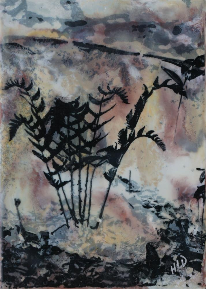 """Black Fern"" original fine art by Heather Douglas"