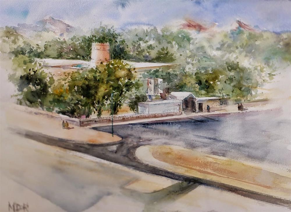 """Al Ain  Museum"" original fine art by Midori Yoshino"