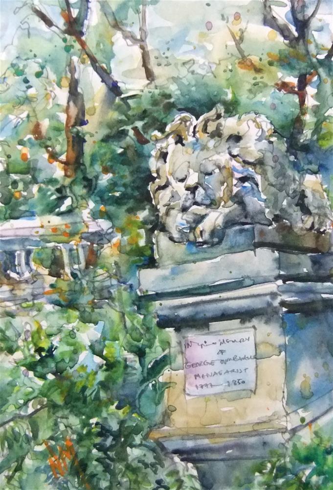 """lion's share"" original fine art by Nora MacPhail"