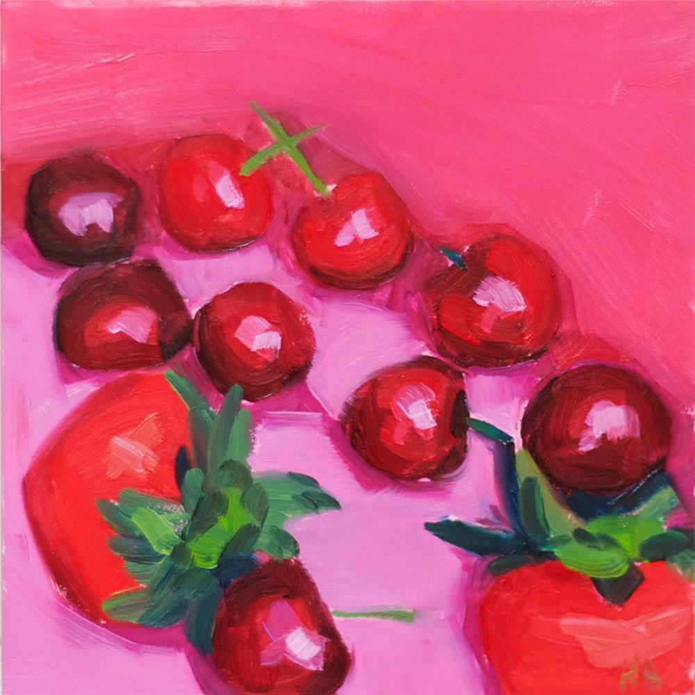 """Summer Berries"" original fine art by Heather Bullach"