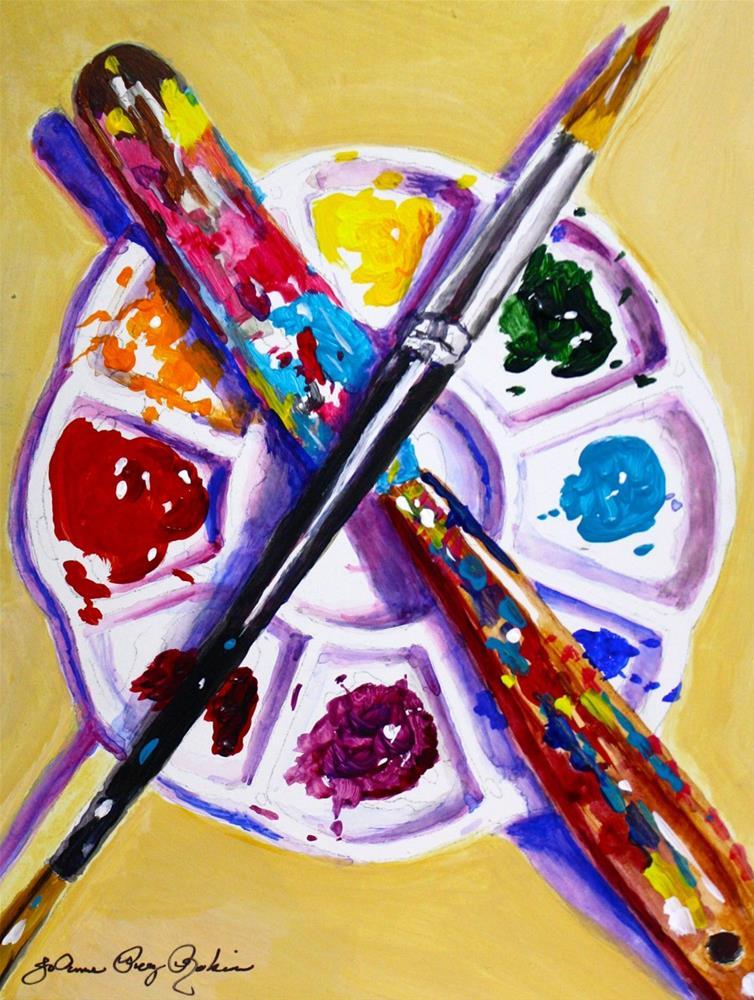 """X Marks the Spot"" original fine art by JoAnne Perez Robinson"