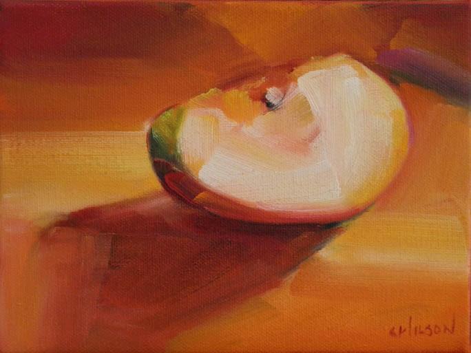"""Apple Slice"" original fine art by Cheryl Wilson"