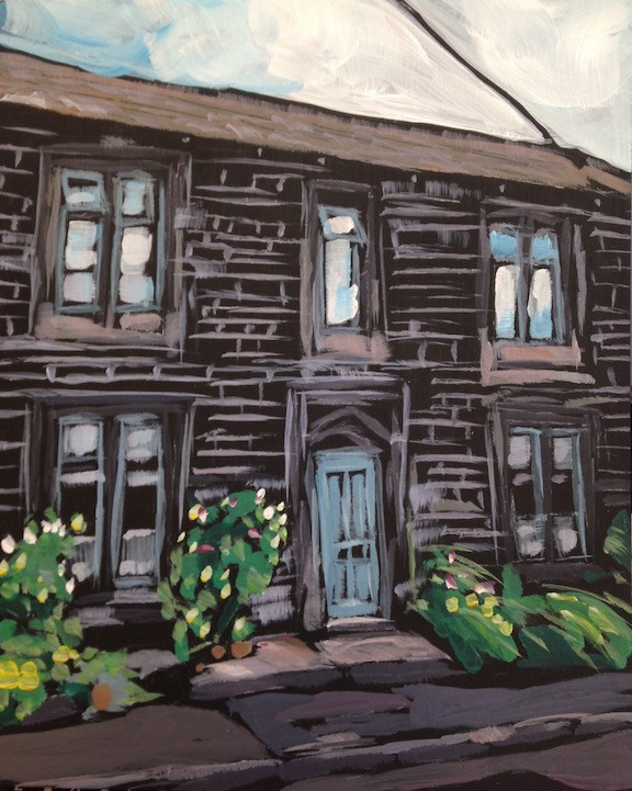 """The Old Chapel Schoolhouse"" original fine art by Kat Corrigan"