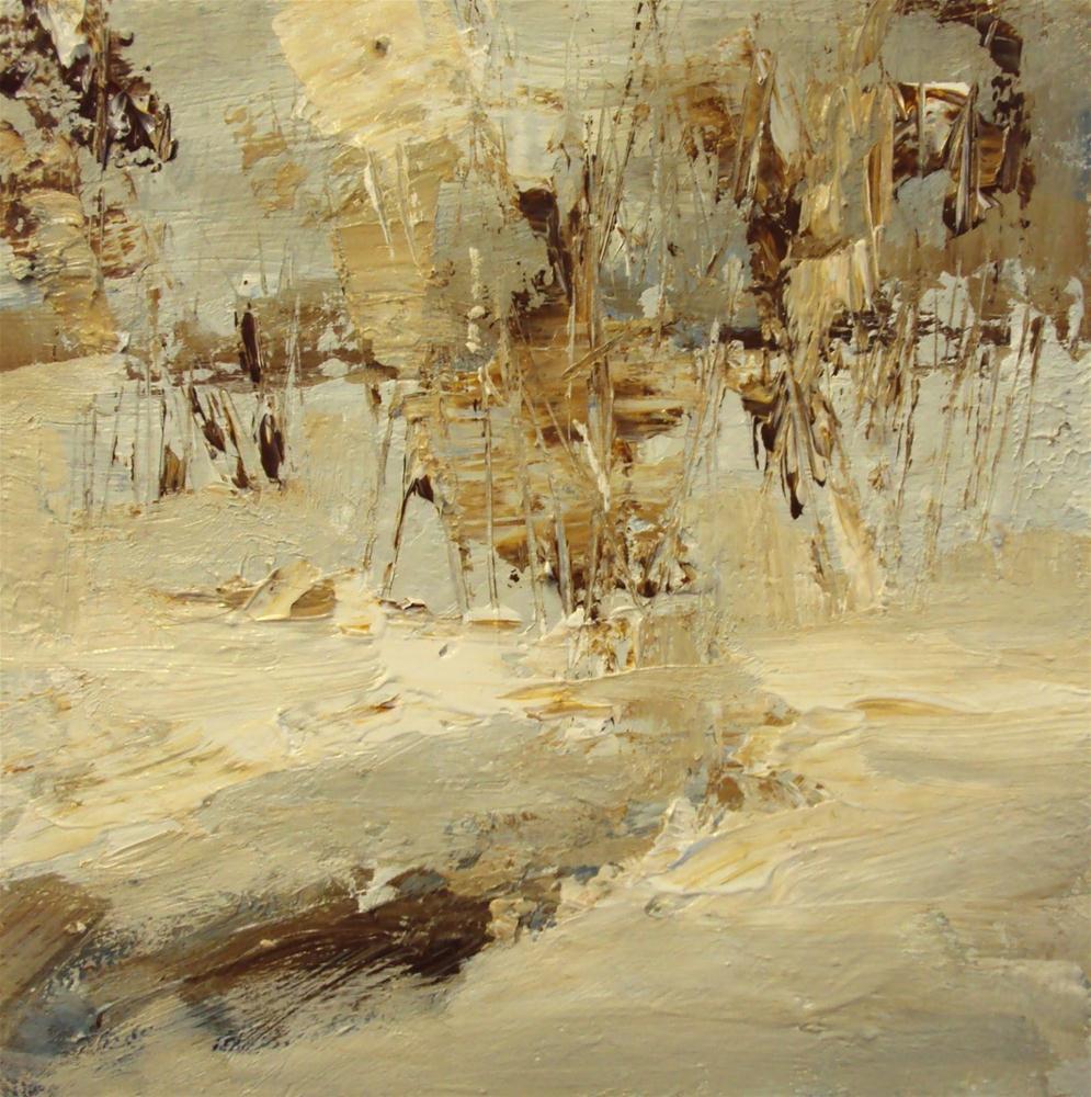 """snowy landscape"" original fine art by Parastoo Ganjei"