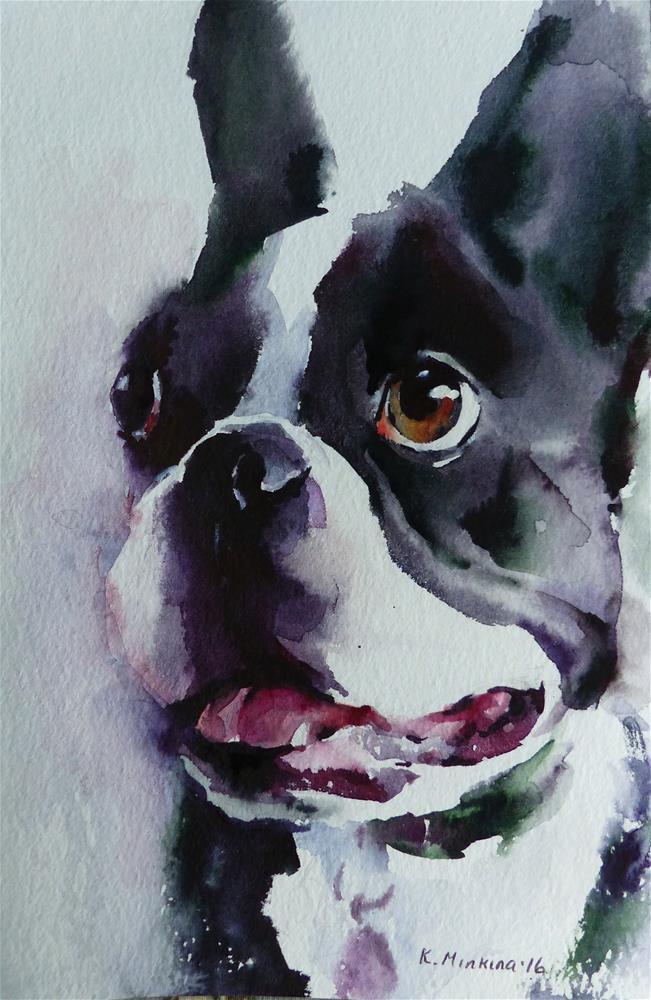 """adopt202 - Heart Lee"" original fine art by Katya Minkina"