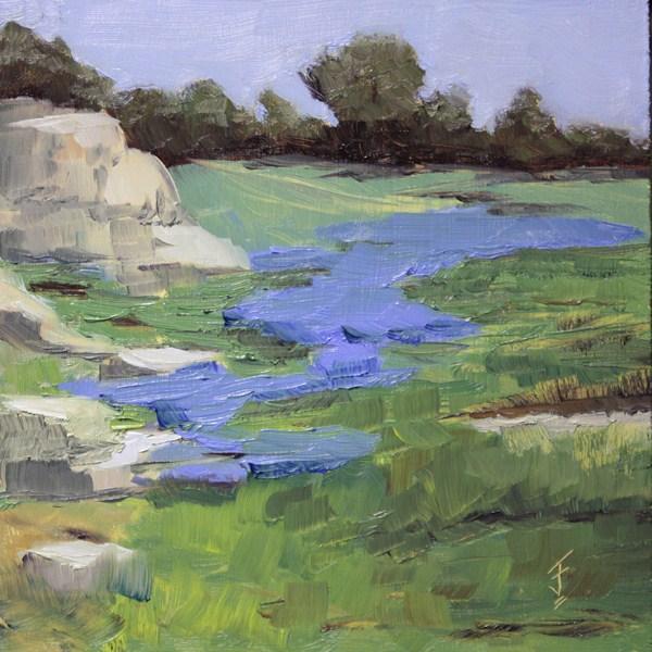 """""""Hillside Color"""" original fine art by Jane Frederick"""