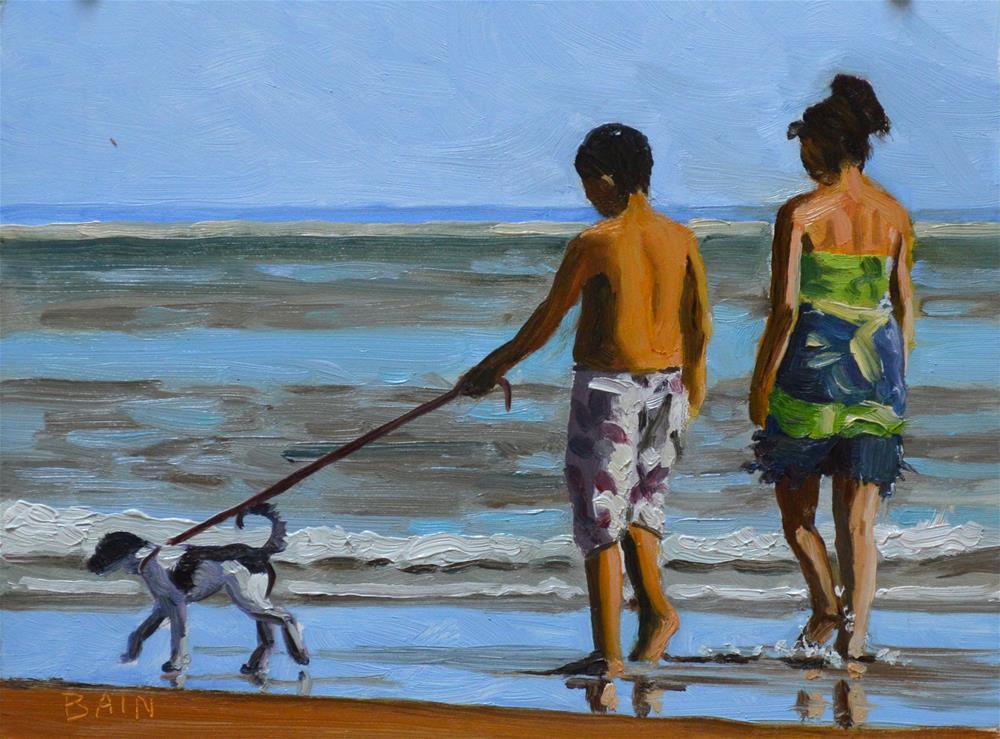 """""""New Puppy"""" original fine art by Peter Bain"""