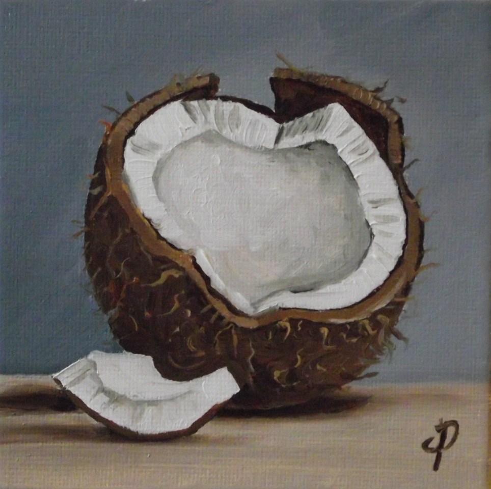 """Little Coconut"" original fine art by Jane Palmer"