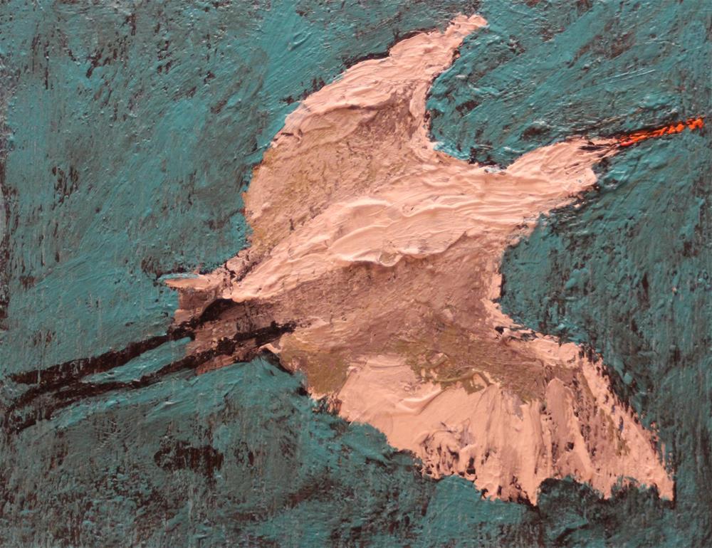 """""""DPW Challenge Flying Bird"""" original fine art by Christine Parker"""