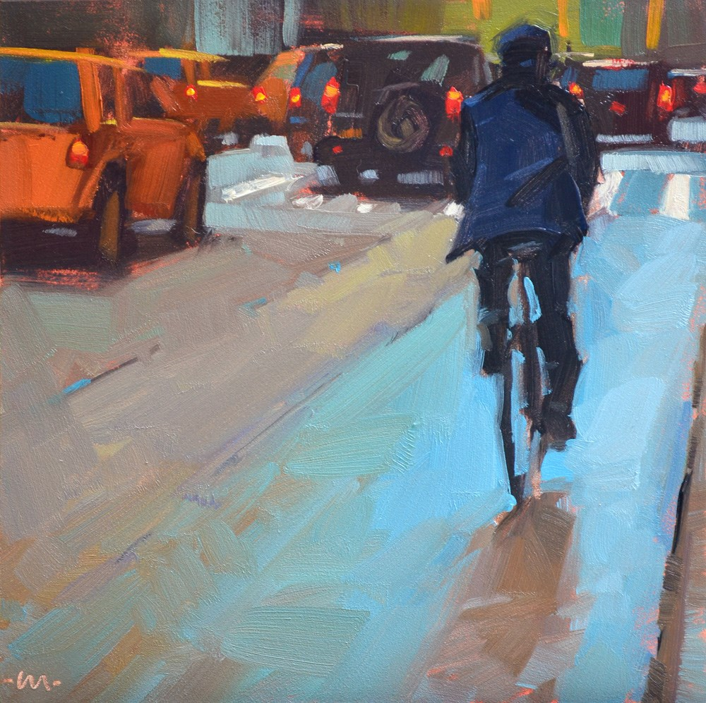 """Colorful Lanes"" original fine art by Carol Marine"