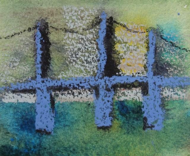 """Bridge"" original fine art by Amy Bryce"