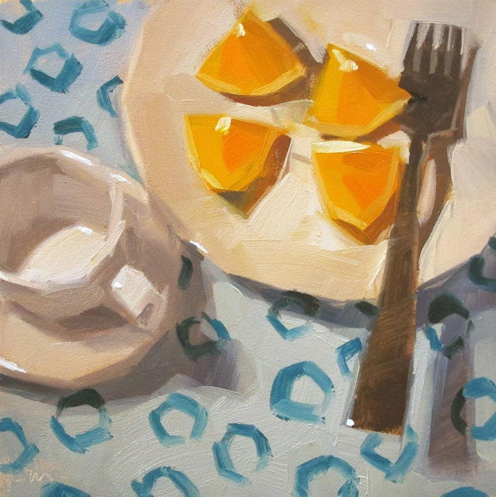 """Orange But No Tea"" original fine art by Carol Marine"