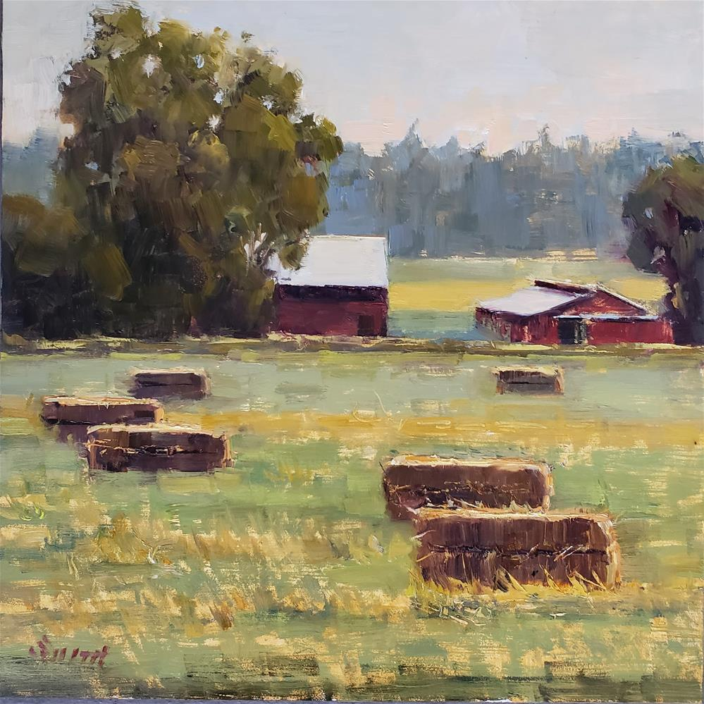 """Late Summer Hay"" original fine art by Barbie Smith"