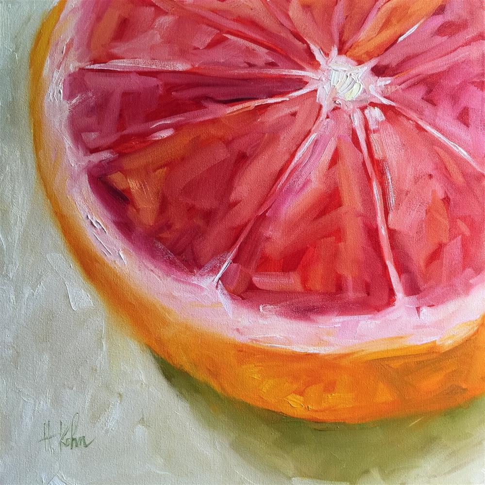 """Juicy Grapefruit"" original fine art by Hallie Kohn"