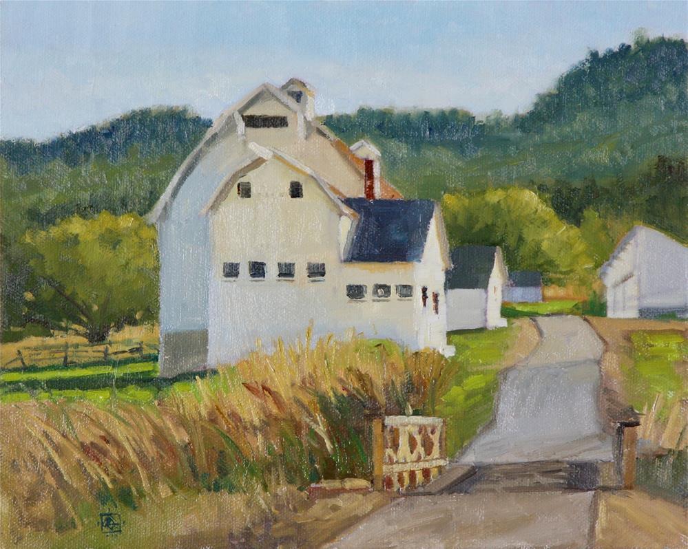 """McPolin Barn"" original fine art by Carol Granger"