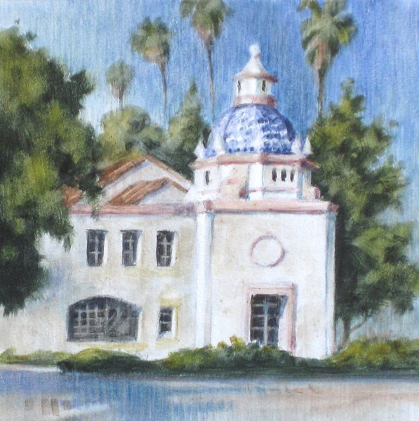 """""""The Smiley Post Office"""" original fine art by Ginger Pena"""