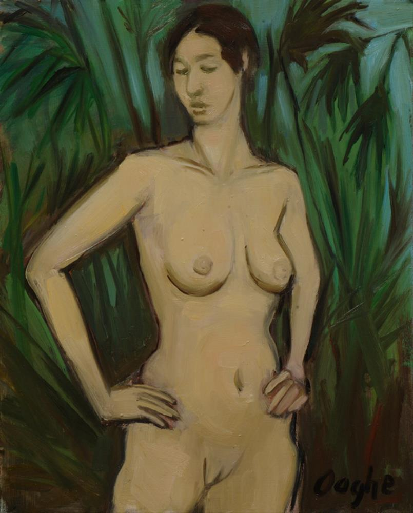 """""""Nude Standing in Palms"""" original fine art by Angela Ooghe"""