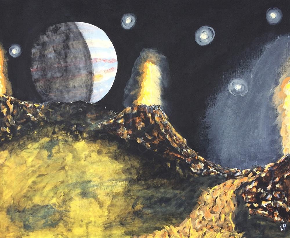 """Jupiter on the Horizon"" original fine art by Kali Parsons"
