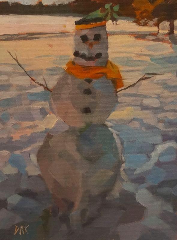 """Snow Day"" original fine art by Deborah Ann Kirkeeide"