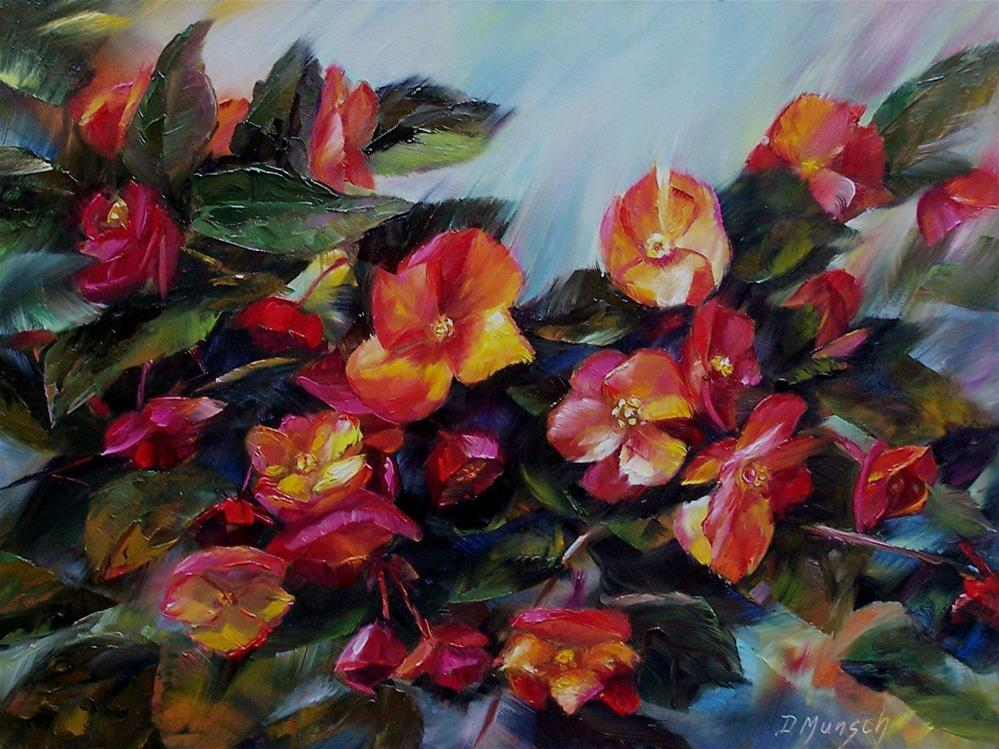 """Begonias"" original fine art by Donna Munsch"