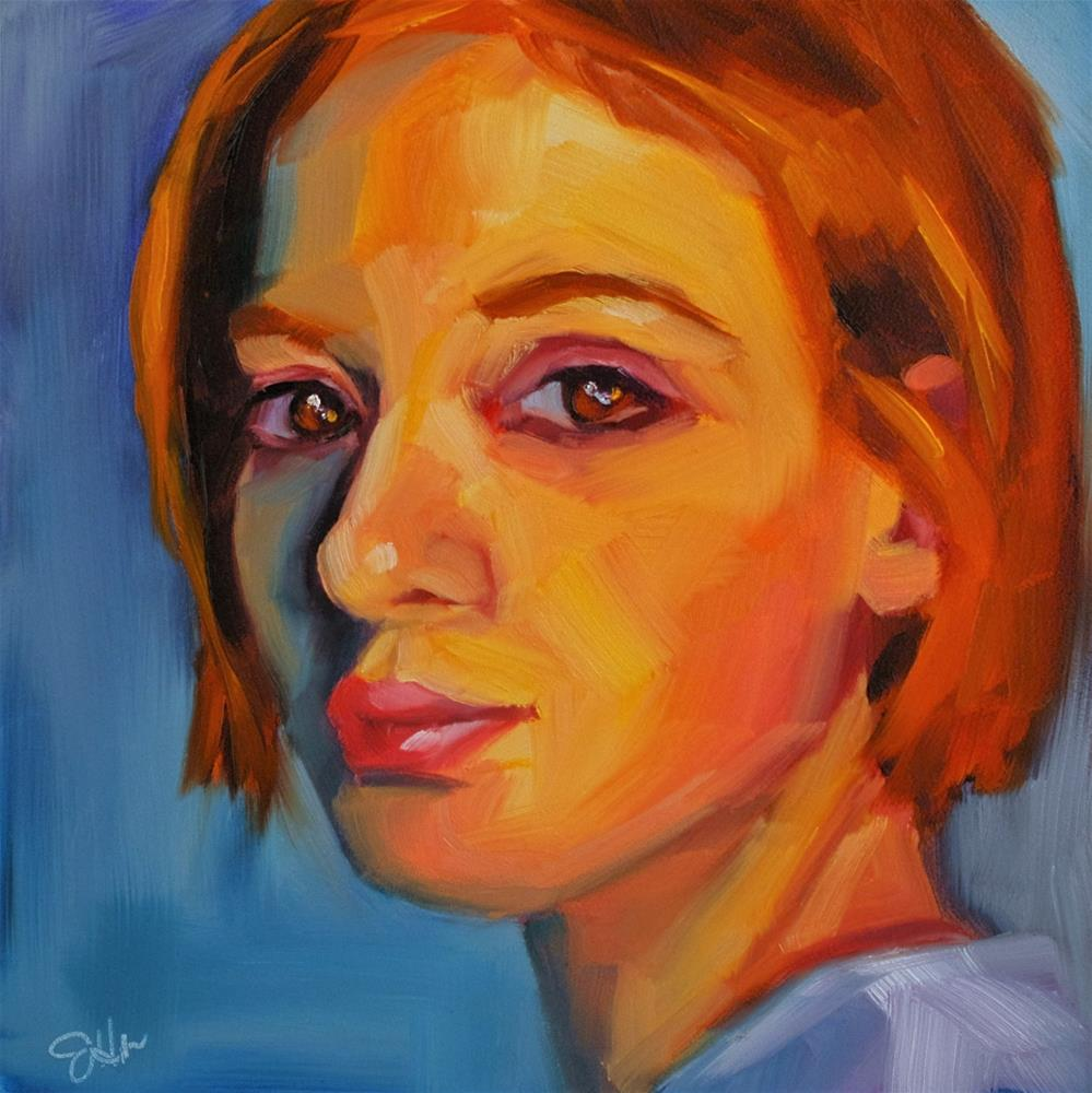 """Copper"" original fine art by Janette Harter"