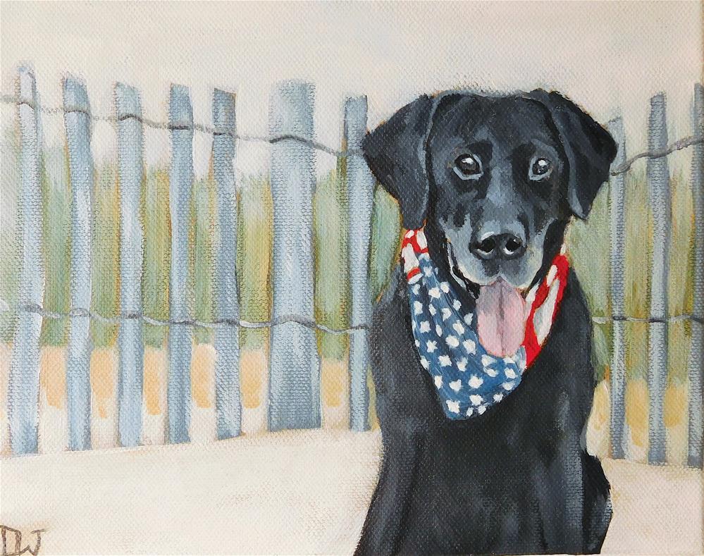 """Beach Buddy"" original fine art by Daryl West"