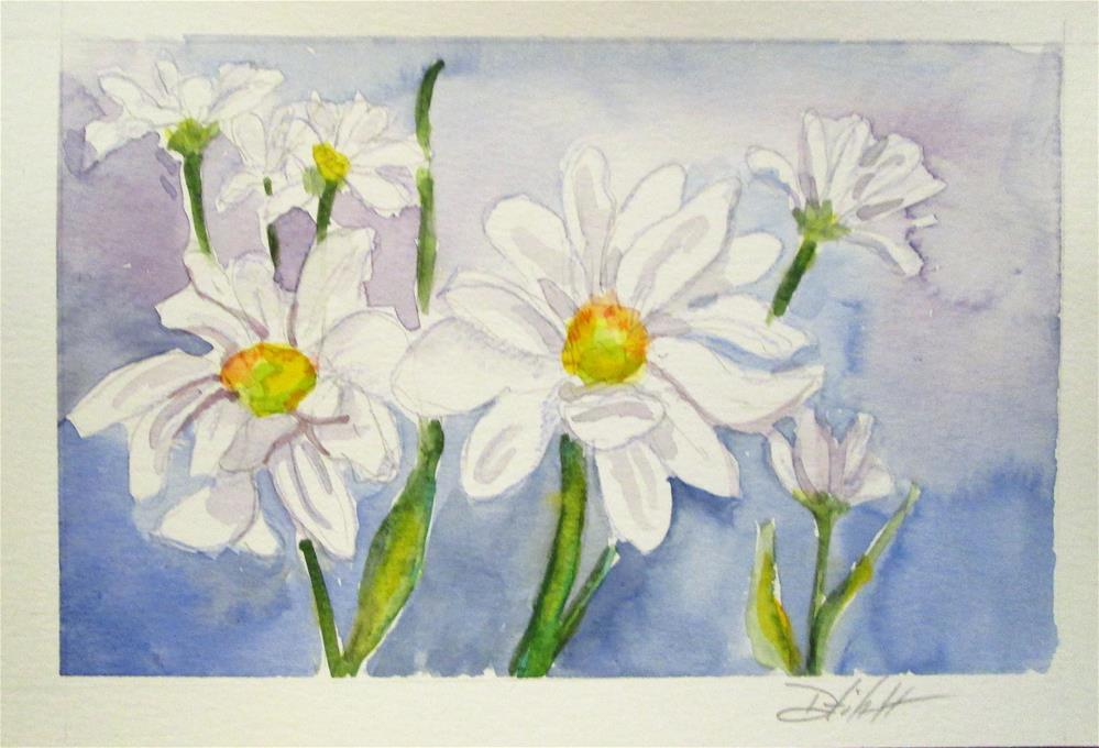 """""""Field of Daisies"""" original fine art by Delilah Smith"""