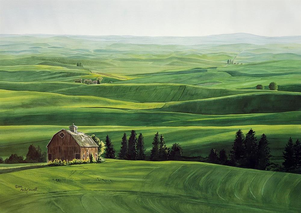 """""""Palouse Country Classic"""" original fine art by Andy Sewell"""