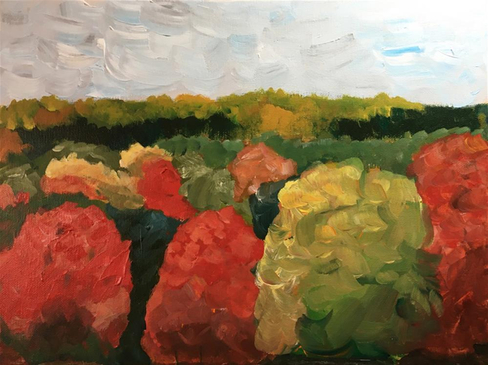 """""""Fall in Holyoke"""" original fine art by Betsy Cook"""