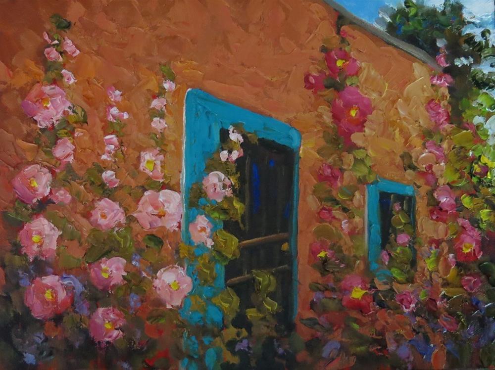 """OLD TOWN HOLLIES"" original fine art by Dee Sanchez"