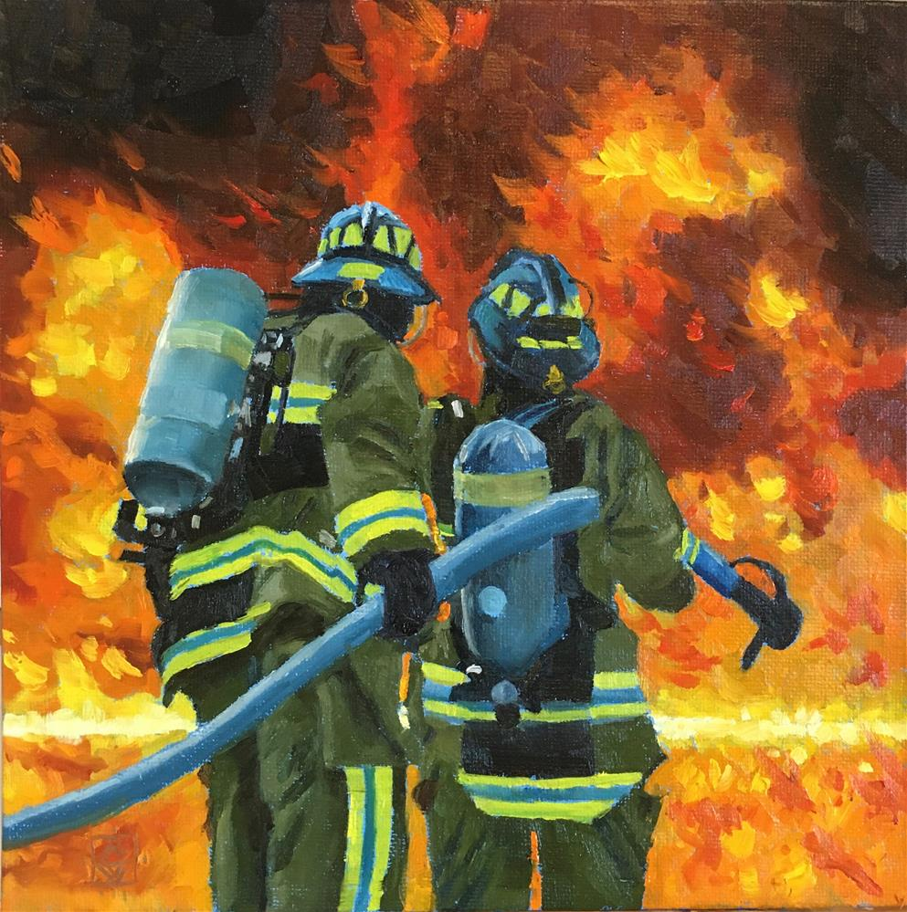 """Heros At Work"" original fine art by Carol Granger"