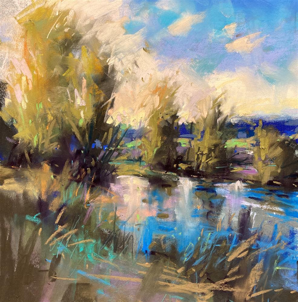 """Reflections on Blue"" original fine art by Marla Baggetta"
