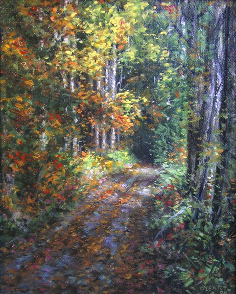 """""""Old Autumn Road"""" original fine art by Danny O'Leary"""