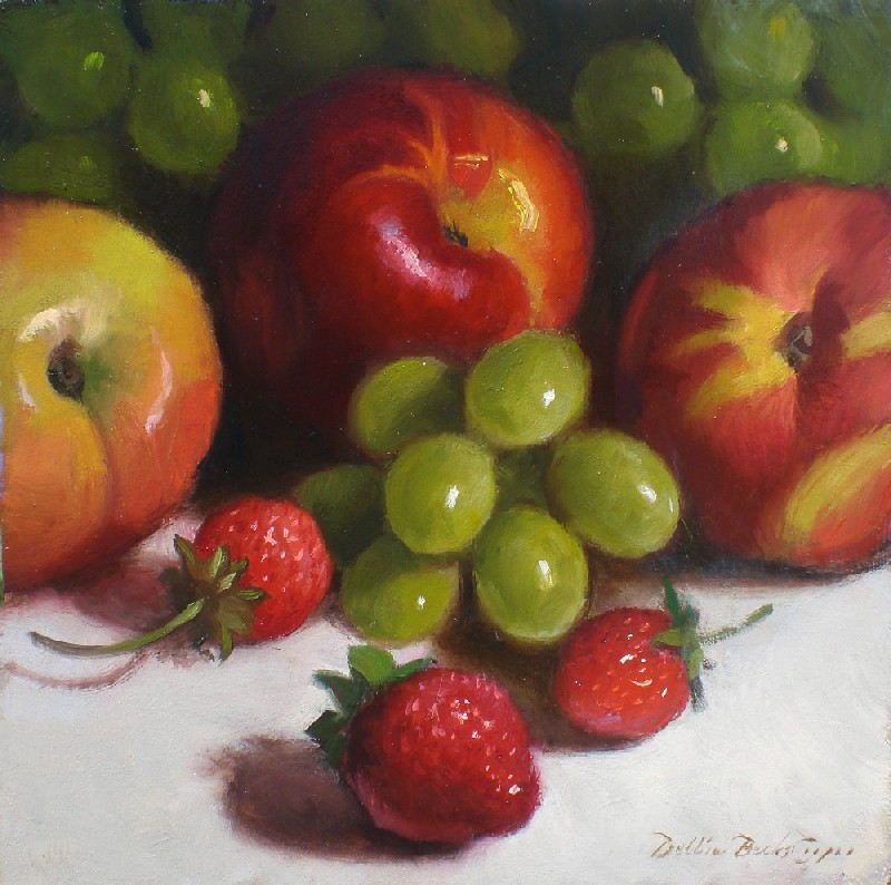 """Summer Fruit"" original fine art by Debra Becks Cooper"