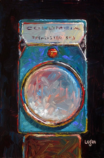 """Columbia Transistor Six Radio"" original fine art by Raymond Logan"