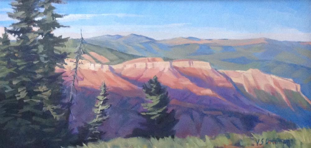 """Sunrise at Sunset Point"" original fine art by Valerie Orlemann"