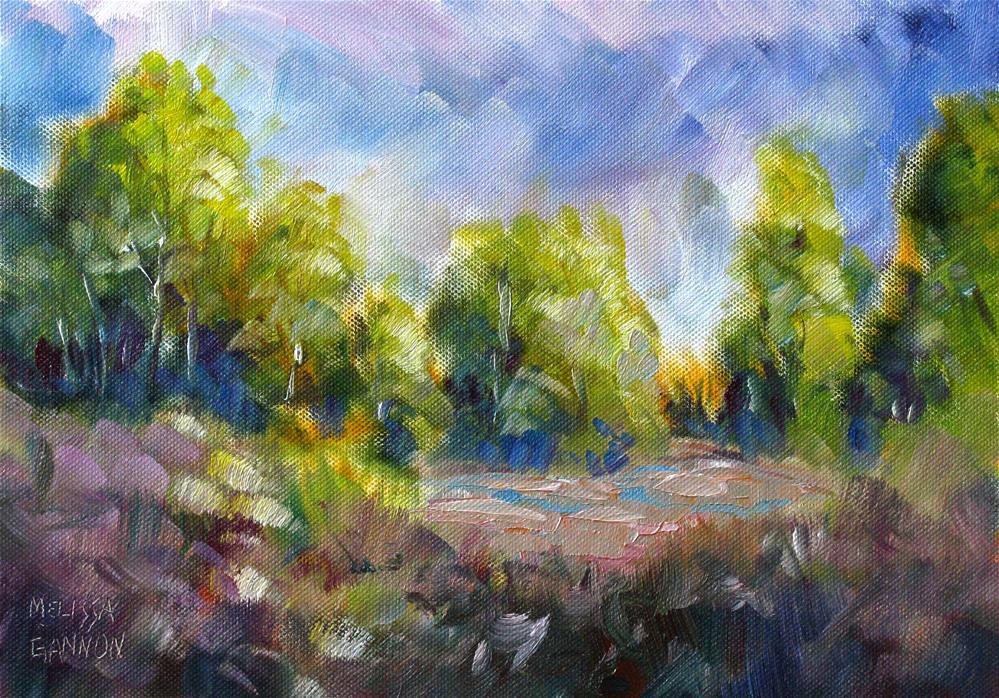 """Clouds in the Landscape"" original fine art by Melissa Gannon"