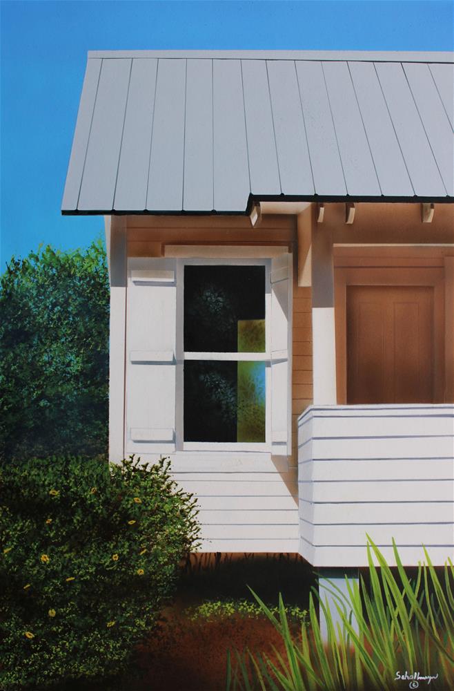 """Beach House Window"" original fine art by Fred Schollmeyer"